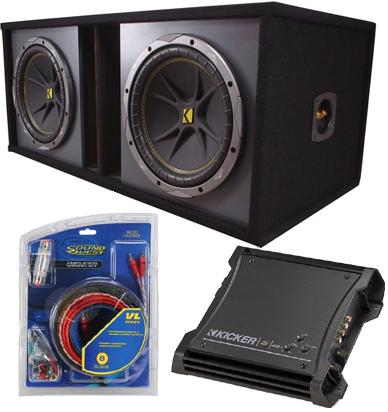 Dual 12 Powered Sub Box Includes Kicker C12 Subs