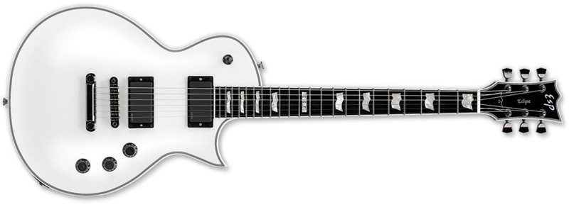 ESP ECLIPSE-II SW Standard Series Electric Guitar  - Mahogany w/ Maple Top Snow White Finish (EECLSTDSW)