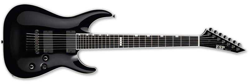 ESP Horizon NT-7 Standard Series Electric Guitar - Neck-Thru-Body Alder w/ Maple Neck Black Finish (EHORNT7STDBLK)