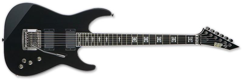 ESP Jeff Hanneman Signature Series Electric Guitar - Maple Neck Thru w/ Ebony Fingerboard Black Finish (EJEFFH)