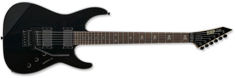 ESP KH-2 NTB Kirk Hammett Signature Series Electric Guitar -  Black Finish Alder w/ Maple Neck-Thru (EKH2NTB)