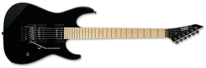 ESP M-II Maple Standard Series Electric Guitar -Black Finish Alder w/ Maple Neck (EMIISTDMBLK)