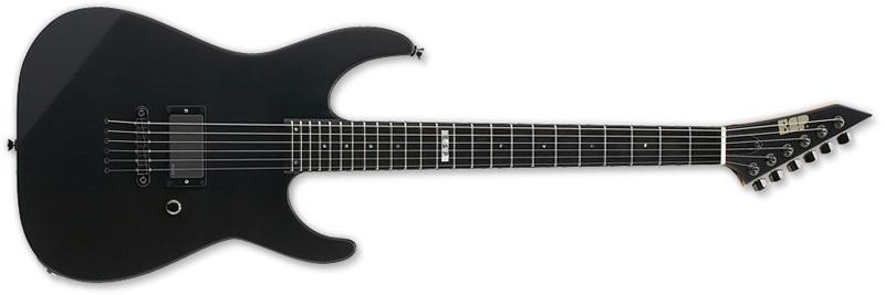 ESP M-1 NTB Standard Series Electric Guitar -Black Satin Finish Alder w/ Maple Neck Thru (EMISTDNTBBLKS)