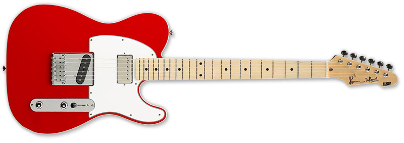 ESP Ron Wood Maple Signature Series Electric Guitar - Fiesta Red Finish Alder w/ Maple Neck (ERONRED)