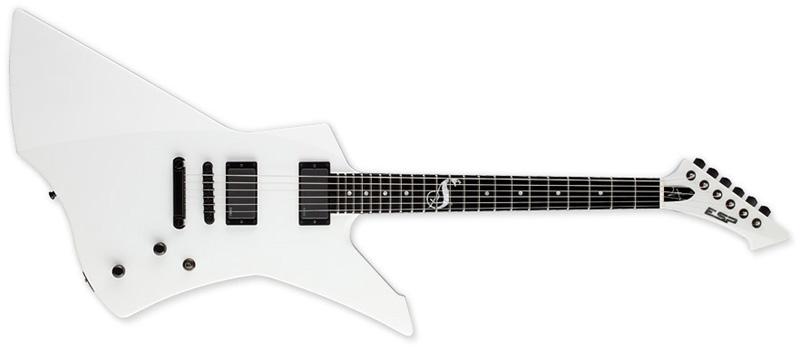 ESP Snakebyte James Hetfield Signature Series Electric Guitar - Snow White Finish Mahogany w/ Ebony Fingerboard (ESNAKEBYTESW)