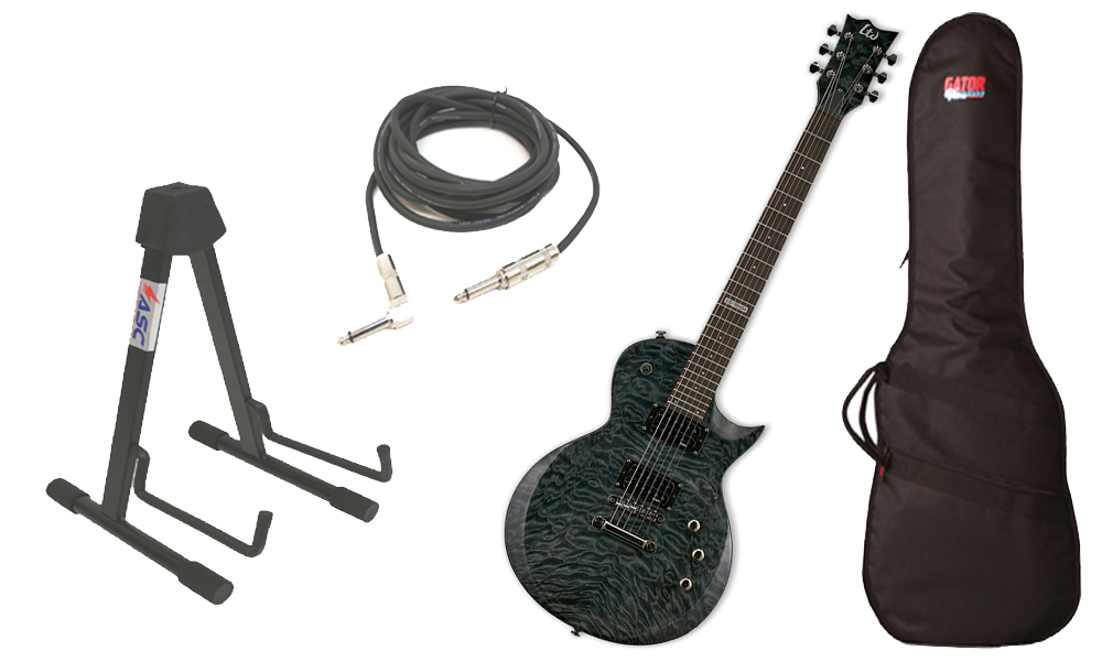 ESP-LTD-EC-Series-EC-100QM-Quilted-Maple-6-String-Rosewood-Fingerboard-See-Through-Black-Electric-Guitar-Travel-Gig-Bag-Stand-1-4-Cable-ESP-PACKAGE-213