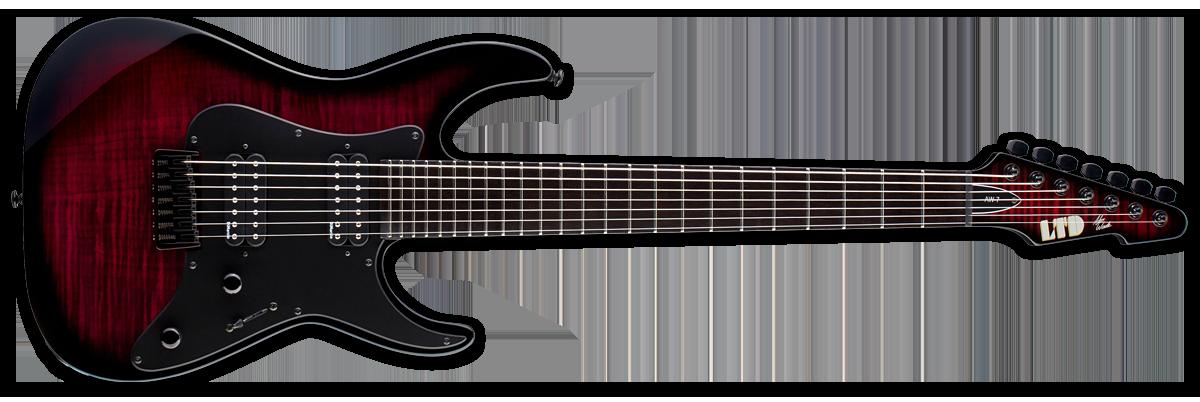 ESP ECLIPSE FM CSB LH E-II Electric Guitar with Left Handed Design Cherry Sunburst Finish