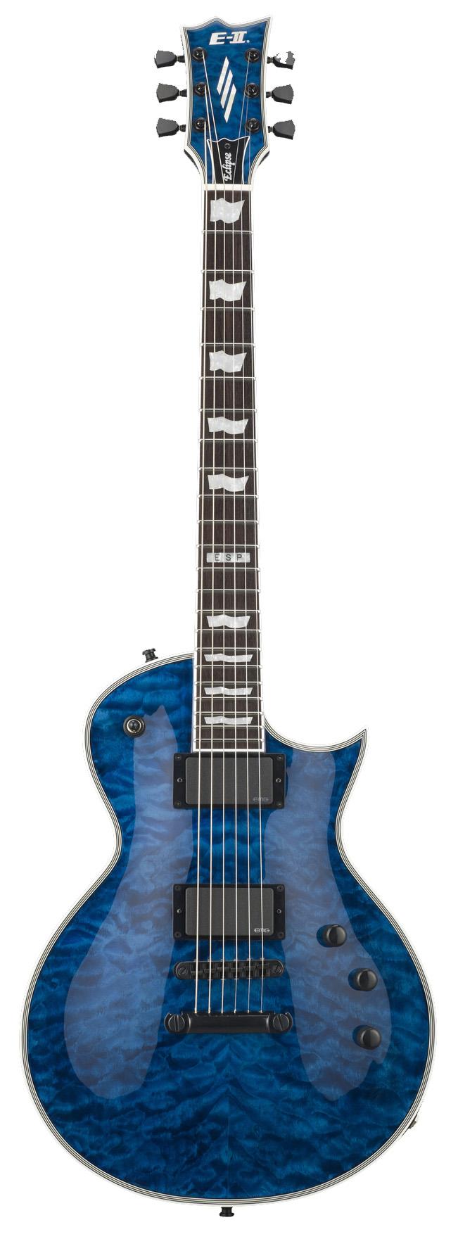 ESP ECLIPSE QM MARBL E-II Quilted Maple Electric Guitar Mahogany Body Marine Blue Finish