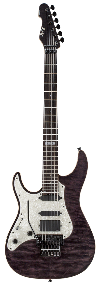 ESP ST-1 ROSEWOOD STBLK LH E-II ST Series Electric Guitar with Left Handed Design See Thru Black Finish
