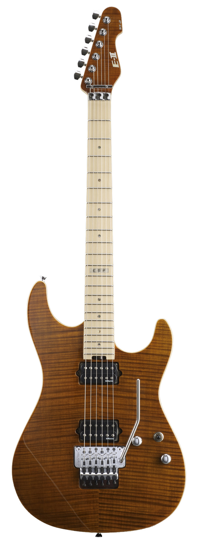 ESP ST-2 MAPLE TE E-II ST Series Electric Guitar with Flamed Top Tiger Eye Finish