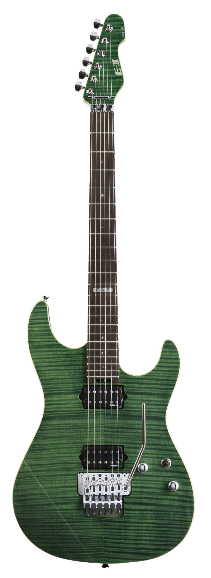 ESP ST-2 ROSEWOOD EGR E-II ST Series Electric Guitar with Fingerboard Emerald Green Finish
