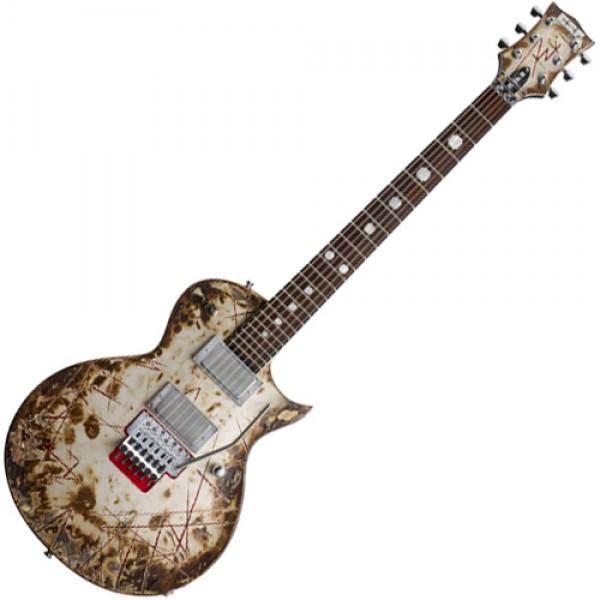 ESP ERZKII Richard Z Signature Series RZK-II Electric Guitar With Distressed Burnt Finish