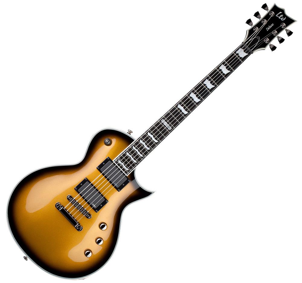 ESP LTD EC-1000 MGOSB Deluxe Electric Guitar with Metallic Gold Sunburst Finish