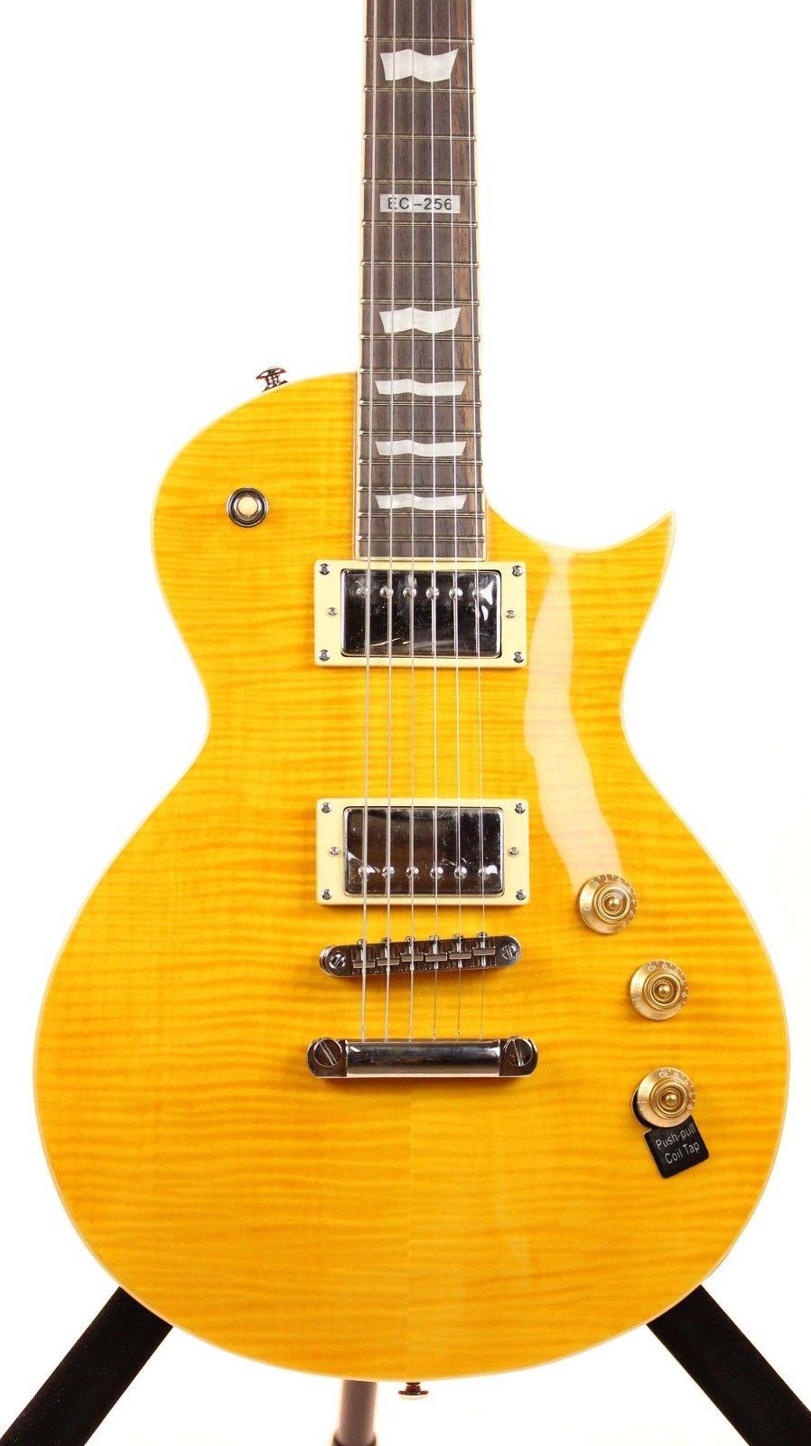 ESP LTD EC-256FM LD Distressed Electric Guitar Flame Maple Top with Lemon Drop Finish