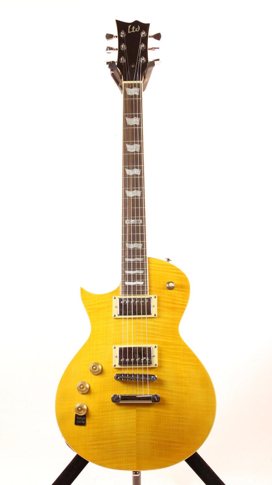 ESP LTD EC-256FM LD LH Distressed Electric Guitar Left Handed Design with Lemon Drop Finish