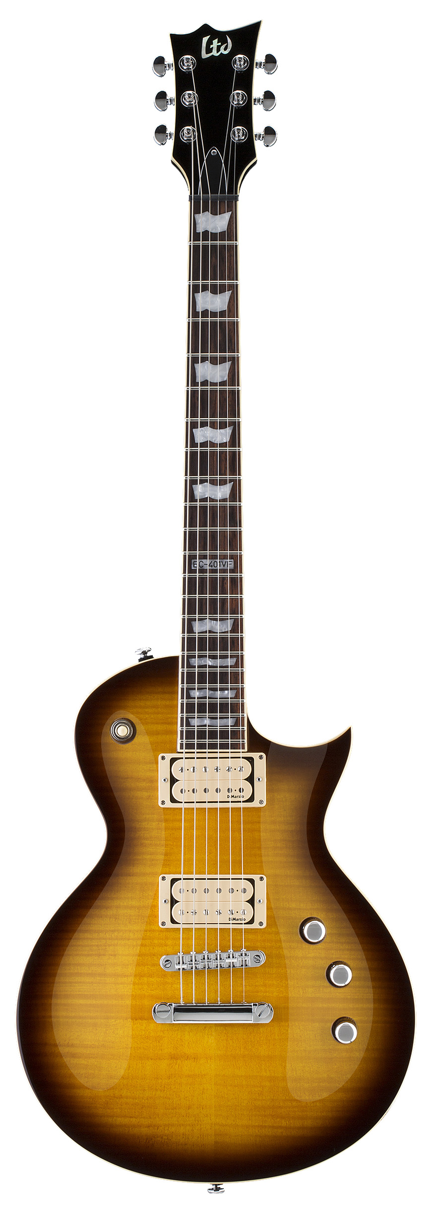 ESP LTD EC-401VF DMZ TSB EC Series Electric Guitar with Chrome Hardware and Tobacco Sunburst Finish