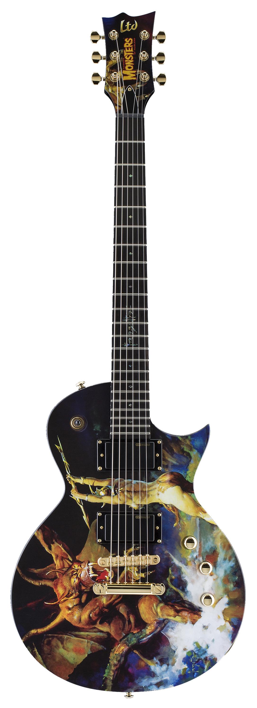 ESP LTD EC FRAZETTA Graphic Series Electric Guitar with Tuners Black Finish