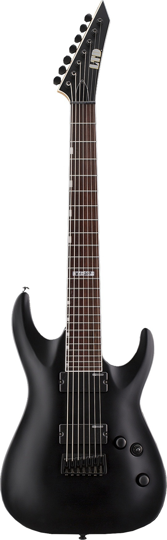 ESP LTD MH-207 BLKS Electric Guitar with Basswood Body and Black Satin Finish