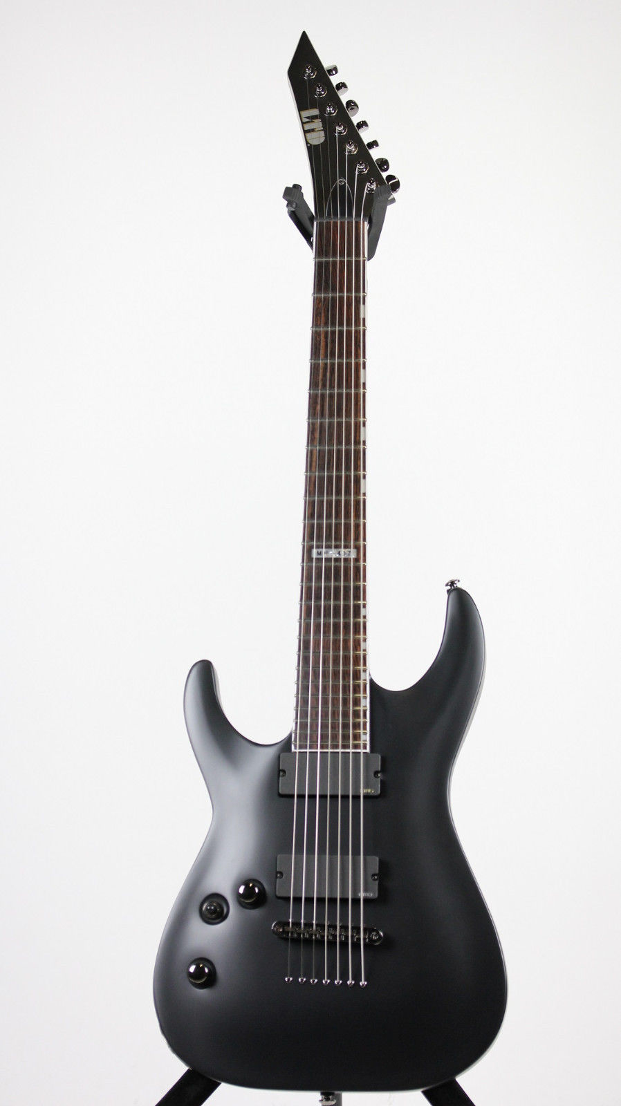 ESP LTD MH-417 BLKS LH TLD MH Standard 7-String Electric Guitar with Left Handed Design and Black Satin Finish