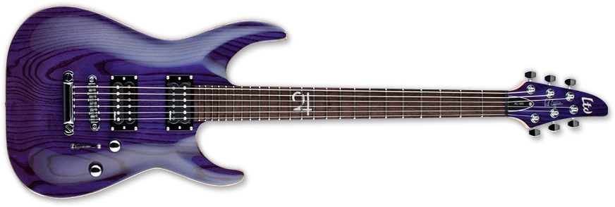 ESP LRC600STP LTD RC-600 Rob Caggiano Signature Series Electric Guitar with See Thru Purple Finish