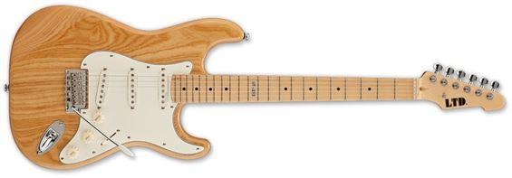 ESP LTD ST-213 ASH MAPLE NAT Standard Series Swamp Body Electric Guitar with Chrome Hardware Natural Gloss Finish