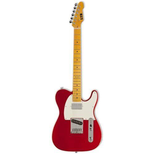 ESP LTD TE-212 CAR Standard Electric Guitar with Flat-Mount Bridge Candy Apple Red Finish