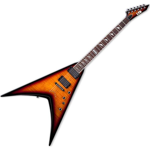 ESP LTD V-401FM 3TB V Series Electric Guitar with TOM Bridge and 3-Tone Burst Finish