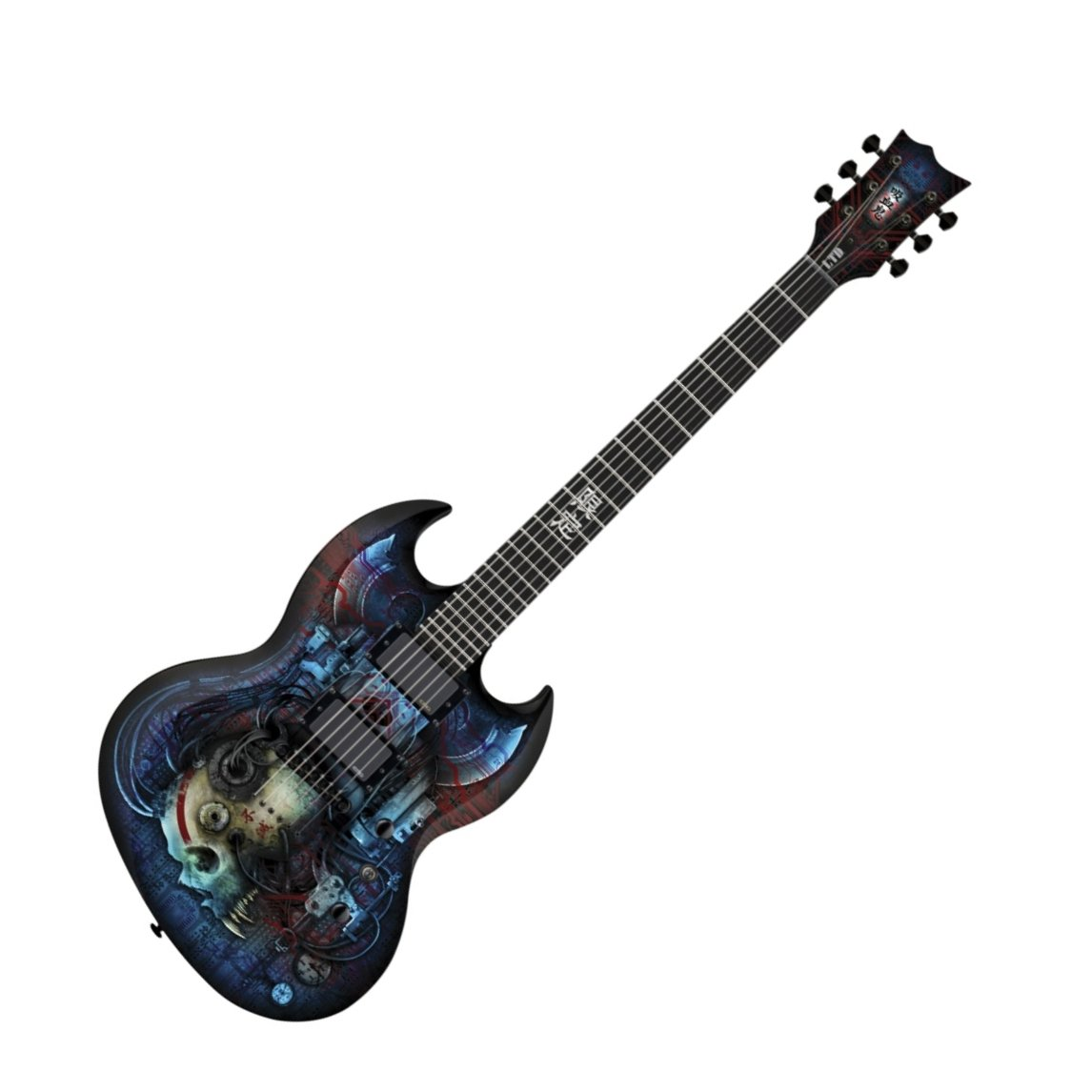 ESP LTD VIPER VAMPIRE BIO TECH Electric Guitar Graphic Series with Bio-Tech Black Finish