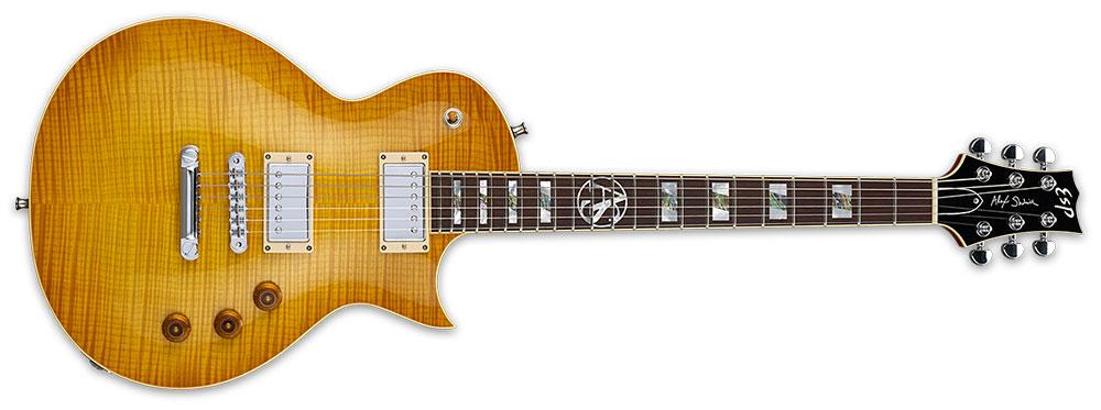 ESP EALEXS LB 6-String Alex Skolnick Signature Flamed Maple Neck Electric Guitar - Lemon Burst Finish (EALEXSLB)