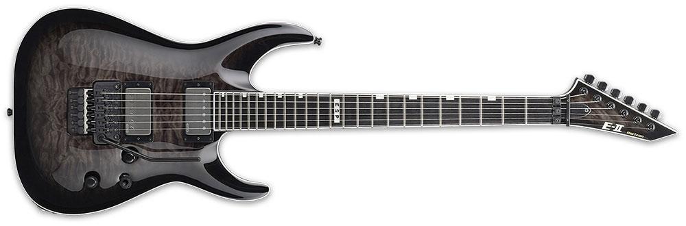 ESP E-II HORFRII STBLKSB 6-String FR-II Horizon Series Quilt Maple Top Electric Guitar - See Thru Black Sunburst Finish (EIIHORFRIISTBLKSB)
