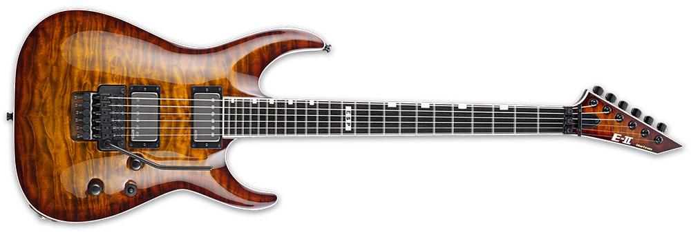 ESP E-II HORFRII TESB 6-String FR-II Horizon Series Quilt Maple Top Electric Guitar - Tiger Eye Sunburst Finish (EIIHORFRIITESB)