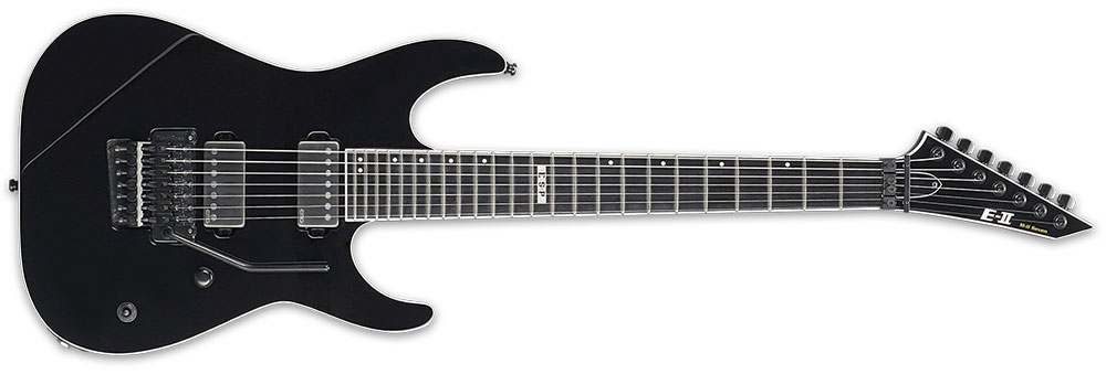 ESP E-II MII7 BLK 7-String M-II Seven 3Pc Maple Neck Electric Guitar - Black Finish (EIIMII7BLK)