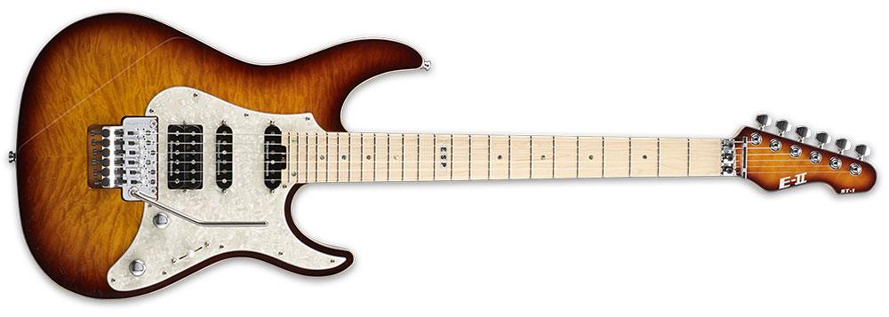 ESP E-II ST1QMM TEASB 6-String ST Series Quilt Maple Top Electric Guitar - Tea Sunburst Finish (EIIST1QMMTEASB)