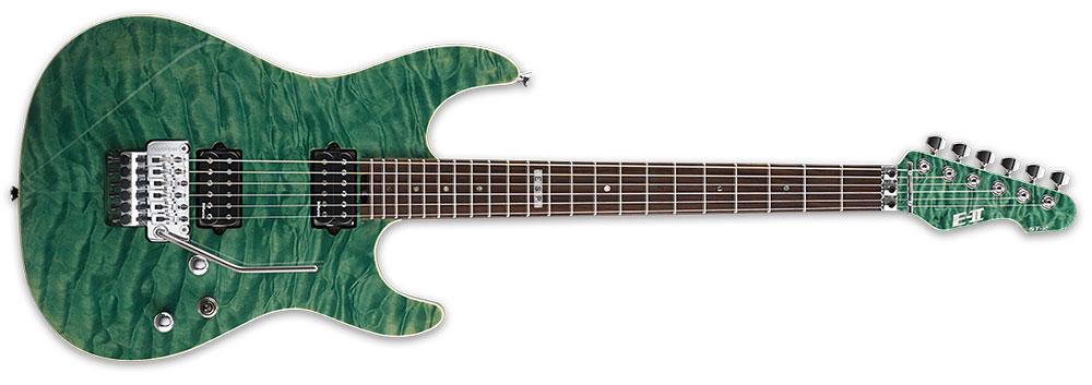 ESP E-II ST2QMR EGR 6-String ST Series Quilt Maple Top Electric Guitar - Emerald Green Finish (EIIST2QMREGR)