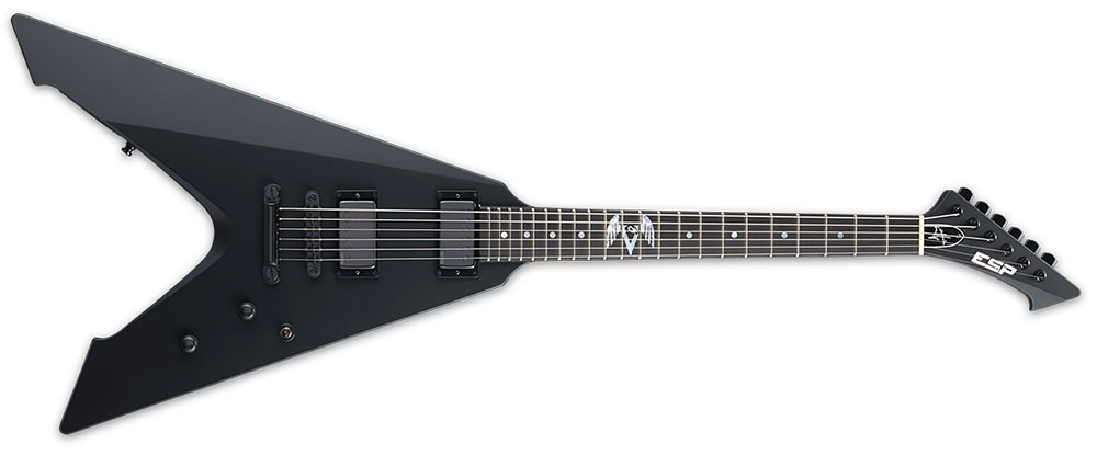 ESP EVULTURE BLKS 6-String James Hetfield Signature Mahogany Body Electric Guitar - Black Satin Finish (EVULTUREBLKS)