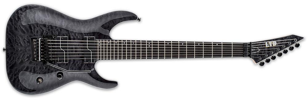 ESP LTD BUZ-7 QM STBLK 7-String Buz McGrath Signature Quilted Maple Top Electric Guitar - See Thru Black Finish (LBUZ7QMSTBLK)