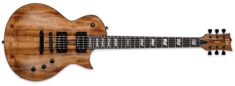 ESP LTD EC-1000 KOA NAT 6-String EC-Series Hawaiian Koa Top Electric Guitar - Natural Gloss Finish (LEC1000KNAT)