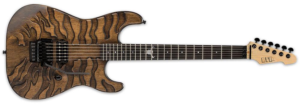 ESP LTD GL BURNT TIGER 6-String George Lynch Signature Electric Guitar - Burnt Satin Finish with Graphics (LGLBURNTTIGER)