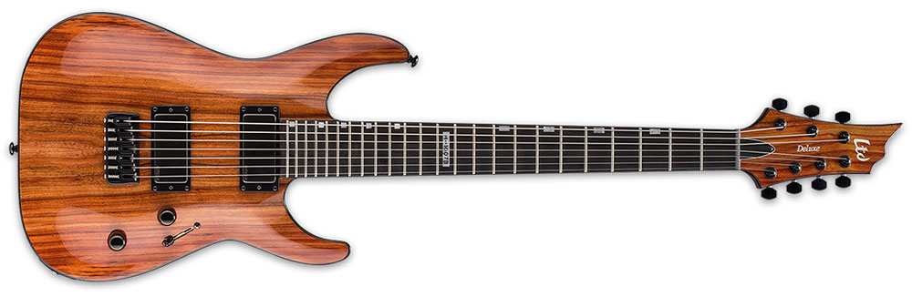 ESP LTD H-1007 BARITONE KOA NAT 7-String Hawaiian Koa Top Electric Guitar - Natural Gloss Finish (LH1007BKNAT)