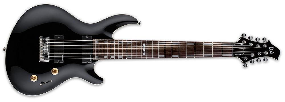ESP LTD JR-208 BLK 8-String Javier Reyes Signature Electric Guitar - Black Finish (LJR208BLK)