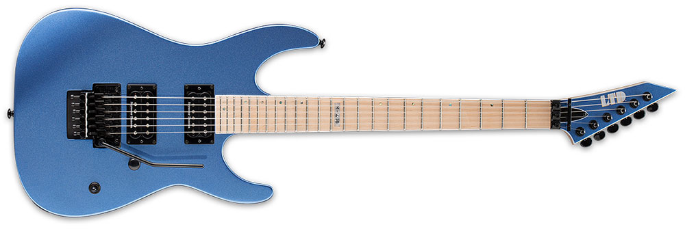 ESP LTD M-400 M BLCM 6-String Maple Fingerboard Electric Guitar - Blue Chrome Metallic Finish (LM400MBLCM)