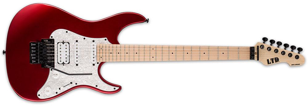 ESP LTD SN-200 FR M BCMS 6-String Maple Floyd Rose Bridge Electric Guitar - Black Cherry Metallic Satin Finish (LSN200FRMBCMS)