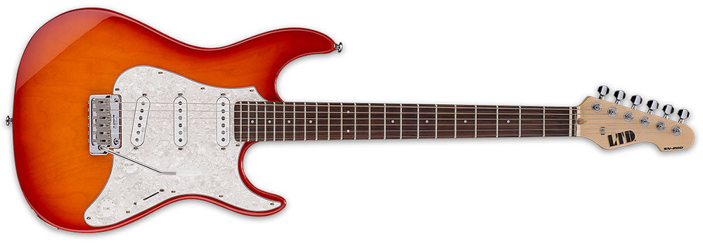 ESP LTD SN-200W R CPRSB 6-String Rosewood Fingerboard Electric Guitar - Copper Sunburst Finish (LSN200WRCPRSB)