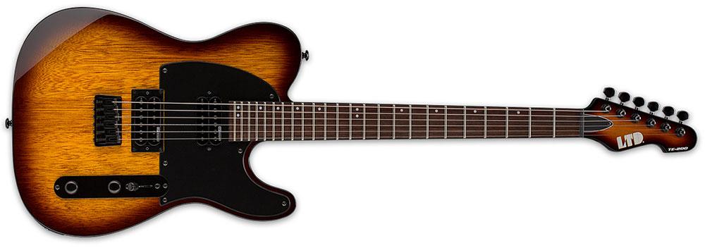ESP LTD TE-200 R TSB 6-String Rosewood Fingerboard Electric Guitar - Tobacco Sunburst Finish (LTE200RTSB)
