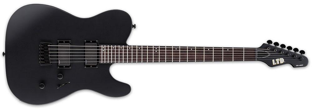 ESP LTD TE-401 BLKS 6-String TE-Series 3Pc Maple Neck Electric Guitar - Black Satin Finish (LTE401BLKS)