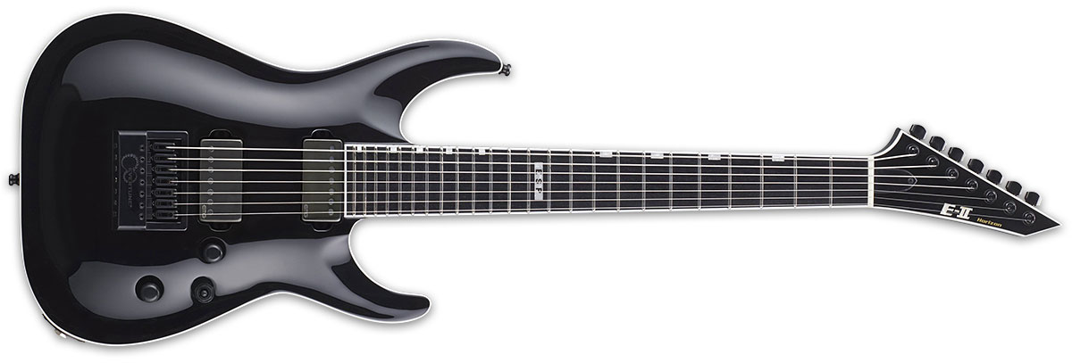 ESP E-II Horizon Series NT-7 Evertune Electric Guitar - Black Finish (EIIHORNT7ETBLK)