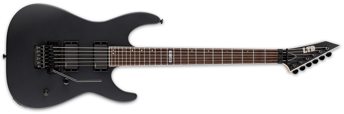 ESP LTD M Series M-400 EMG Active Pickup Electric Guitar - Black Satin Finish (LM400BLKS)