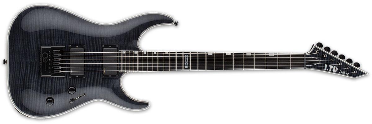ESP LTD MH Series MH-1000 Evertune Flame Maple Top Electric Guitar - See Thru Black Finish (LMH1000ETFMSTBLK)