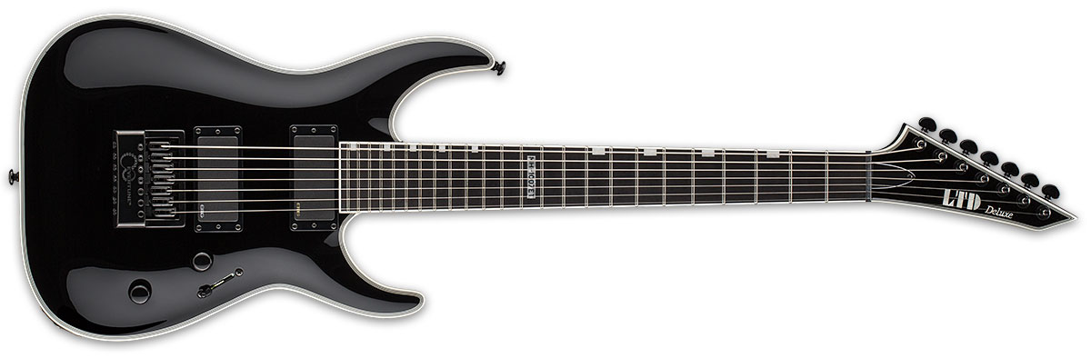 ESP LTD MH Series MH-1007 Evertune Electric Guitar - Black Satin Finish (LMH1007ETBLK)