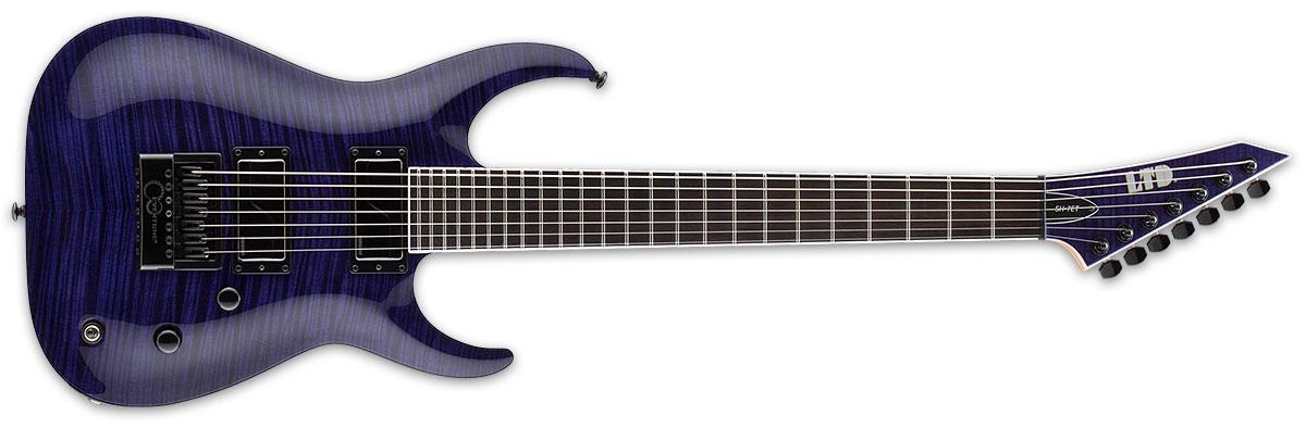 ESP LTD SH-7 Evertune 7-String Brian Welch Signature Flamed Maple Top Electric Guitar - See Thru Purple Finish (LSH7ETFMSTP)